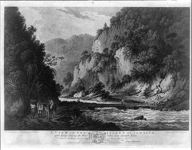A view in the island of Jamaica, of the bridge crossing the River Cobre near Spanish Town