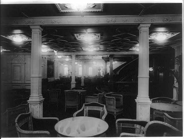 [The S.S. OLYMPIC, 1911: Reception room]