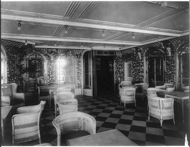 [The S.S. OLYMPIC, 1911: Palm Court]