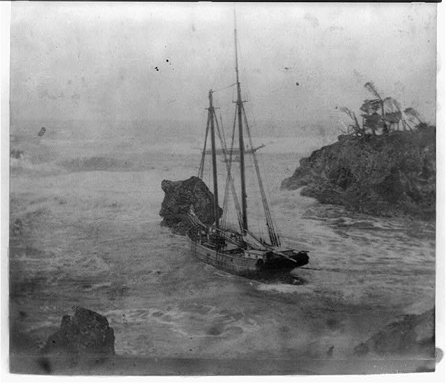 Ship off the coast of California