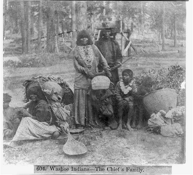 Washoe Indians--The Chief's Family