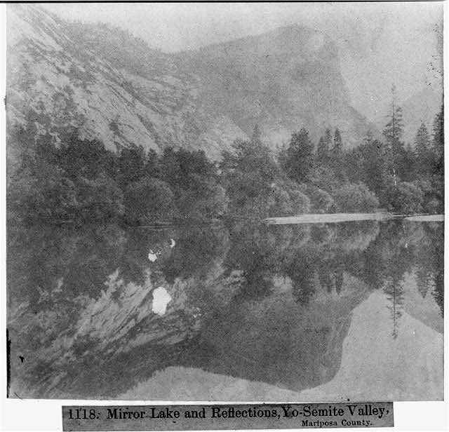 Mirror Lake and Reflections, Yosemite Valley, Mariposa County