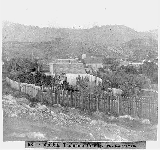 Columbia, Tuolumne County, View from the West