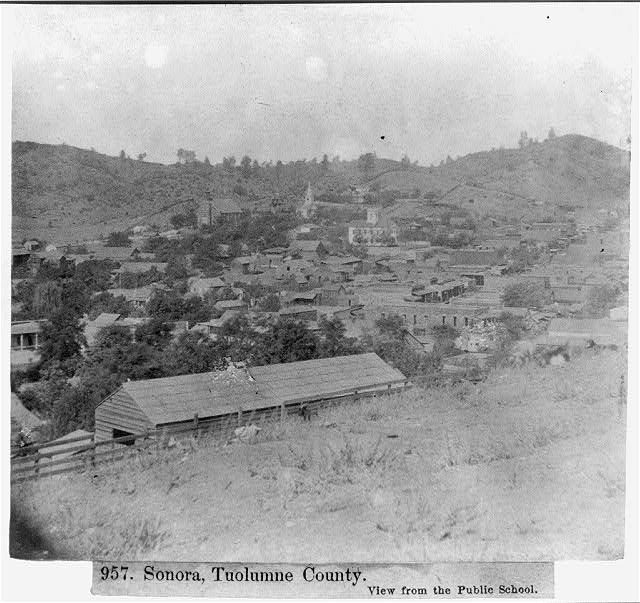 Sonora, Tuolumne County - View from the Public School