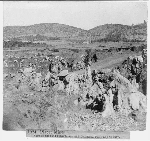 Placer Mines, view on the road between Sonora and Columbia, Tuolumne County