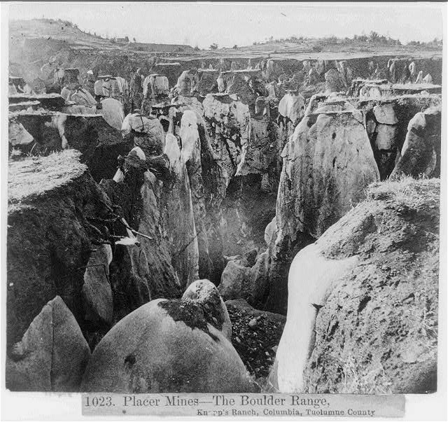 Placer Mines--The Boulder Range, Knapp's Ranch, Columbia, Tuolumne County