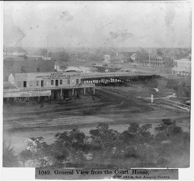 General view from the Court House, Stockton, San Joaquin County