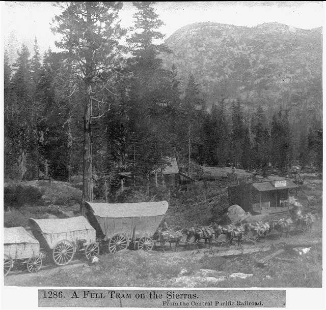 A full team on the Sierras - From the Central Pacific Railroad