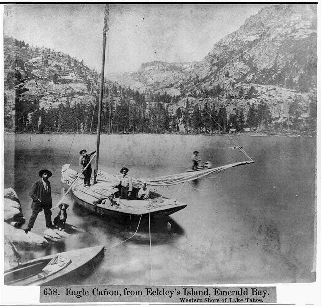 Eagle Canyon, from Eckley's Island, Emerald Bay - Western Shore of Lake Tahoe