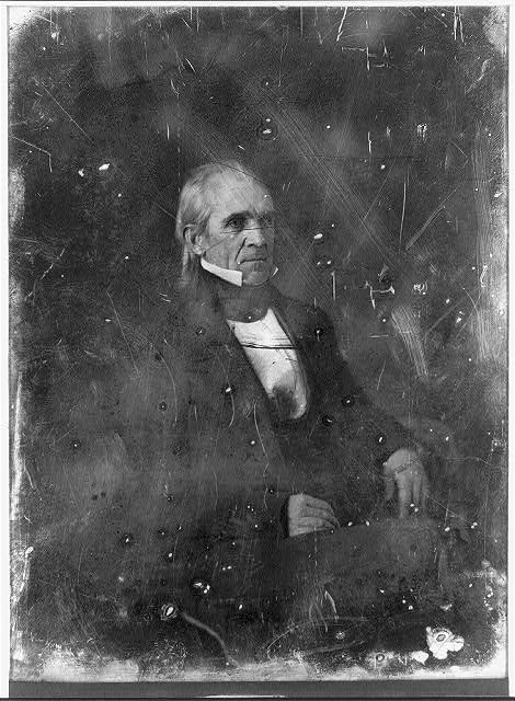 [James Knox Polk, three-quarter length portrait, three-quarters to the right, seated]