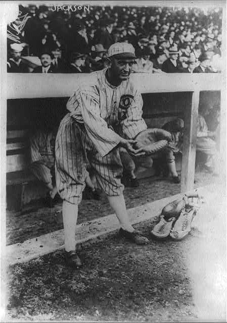 [Joe Jackson, pretending to be a catcher, Chicago AL (baseball)]