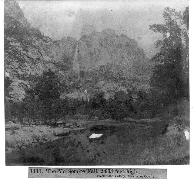 The Yosemite Fall, 2,634 feet high, Yosemite Valley Mariposa County