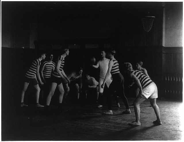 [Male students playing basketball, Western High School, Washington, D.C.]