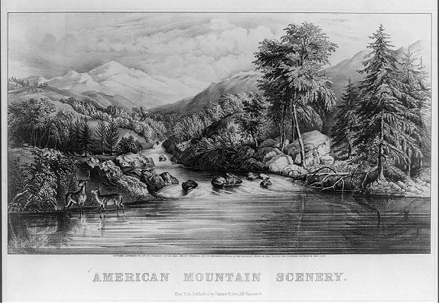 American mountain scenery