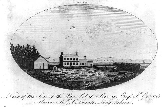 A view of the seat of the Hon. Selah Strong, Esqr., St. George's Manor, Sussex County, Long Island