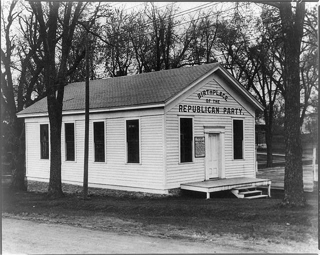 [Republican schoolhouse, Rippon, Wisconsin. Scene of the meeting, Mar. 20, 1854, at which Wisc. people claim the Republican Party was founded]