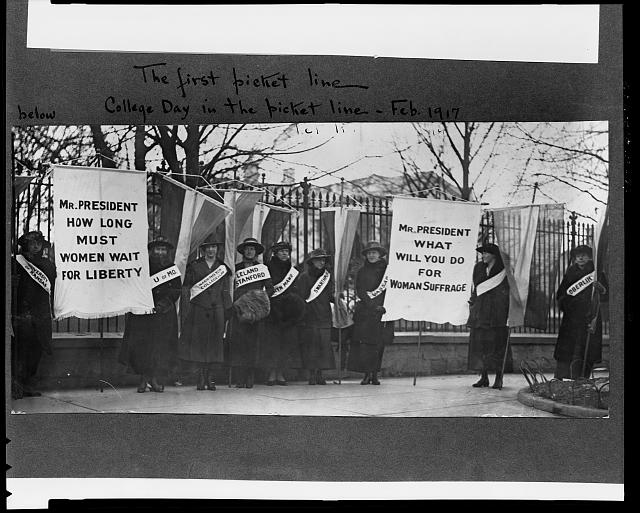 The first picket line - College day in the picket line