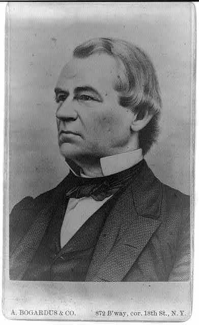 [Andrew Johnson, half-length portrait, facing left]