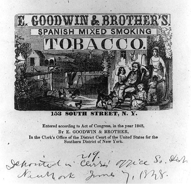 E. Goodwin & Brother's Spanish mixed smoking tobacco. 153, South Street, N.Y.