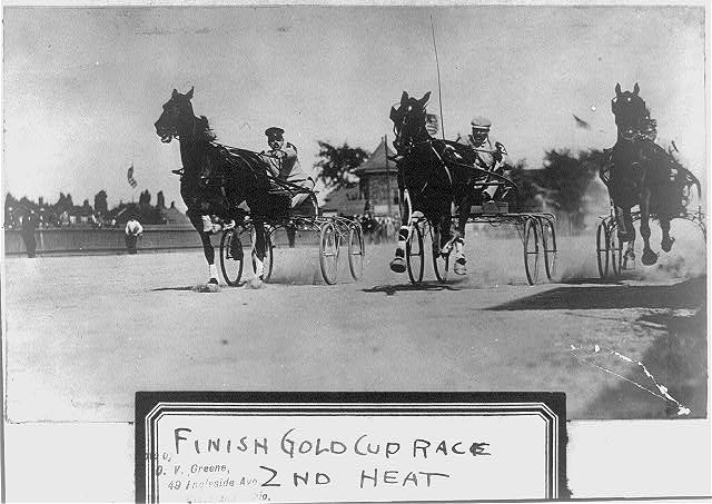Finish Gold Cup race, 2nd heat, August 1904