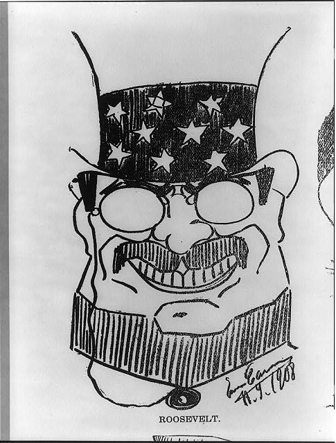 Caricature of Theo. Roosevelt