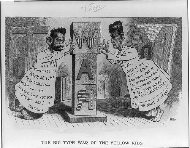 The big type war of the yellow kids