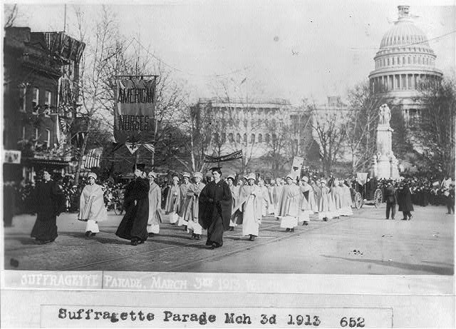Suffragette parade Mar. 3, 1913; Wash., D.C.