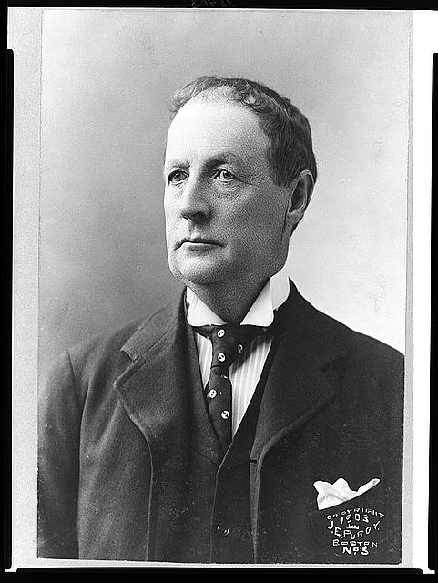 [Francis G. Newlands, head-and-shoulders portrait, facing left]