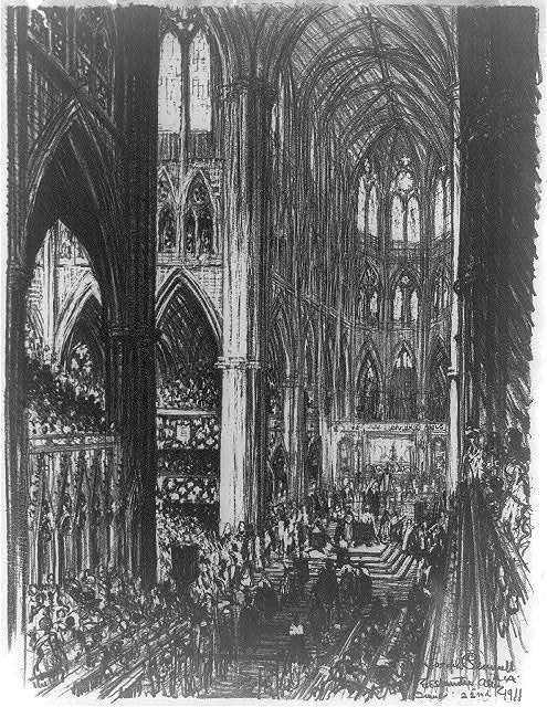 [Coronation of King George V and Queen Mary in Westminster Abbey]