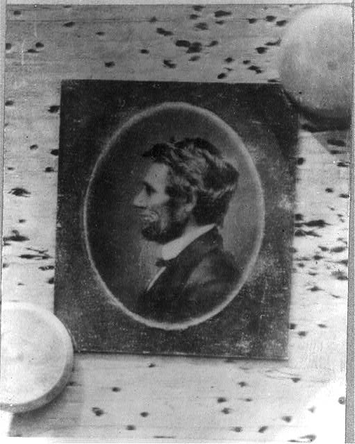 [Abraham Lincoln, first profile portrait with a full beard]