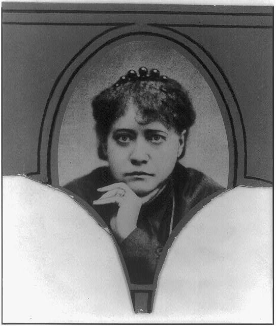 [Mme. Blavatsky, head-and-shoulders portrait]