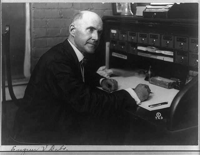 [Eugene V. Debs, seated at desk]