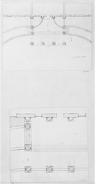[The White House, Washington, D.C. Plan of portico and curved driveway]