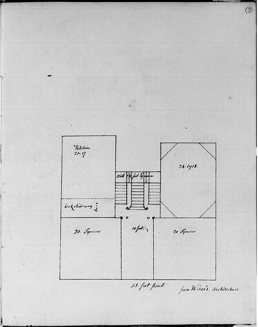 [Two story, five bay building. Elevation]