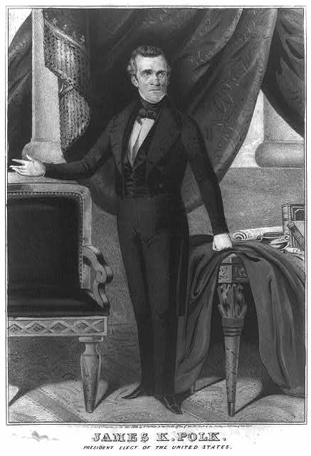 James K. Polk--President elect of the United States