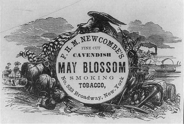 F. H. M. Newcombe's fine cut Cavendish May Blossom smoking tobacco.