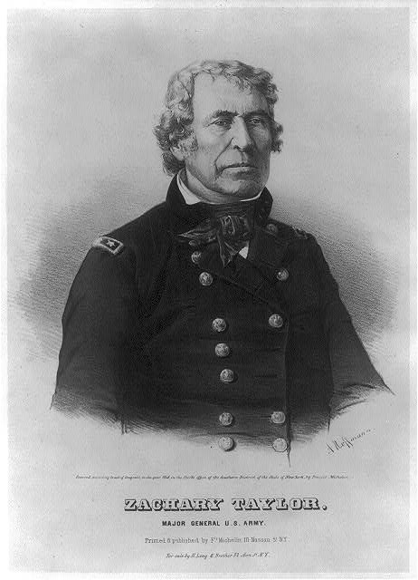 Zachary Taylor. Major general U.S. Army