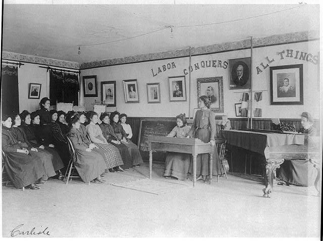 [Debating class, Carlisle Indian School, Carlisle, Pennsylvania]