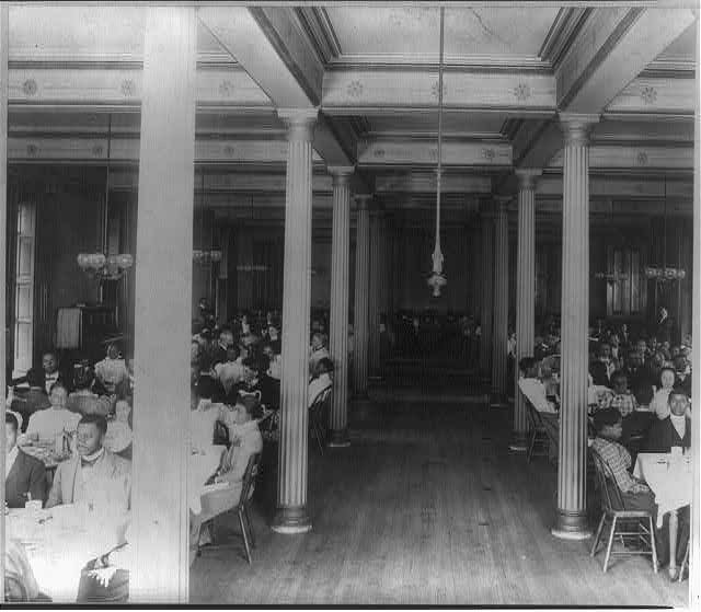 Fisk University, Nashville, Tenn., 1900 - dining hall