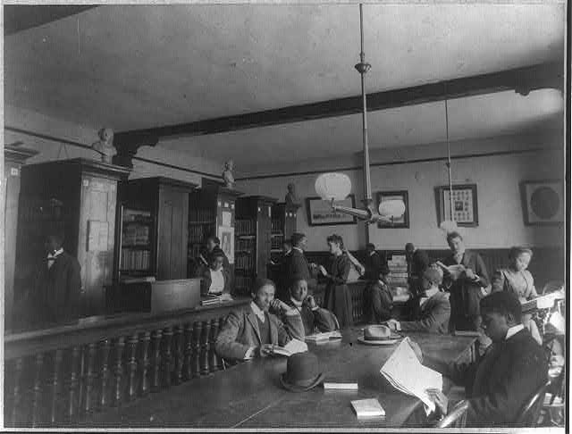 Fisk University, Nashville, Tenn., 1900 - library interior