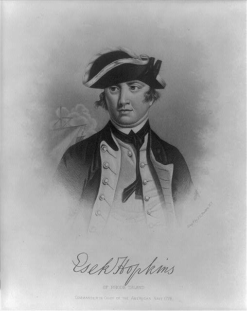Esek Hopkins of Rhode Island, commander in chief of the American navy 1776