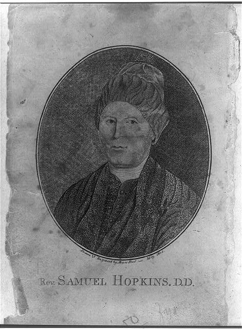 [Reverend Samuel Hopkins, D.D., bust portrait]