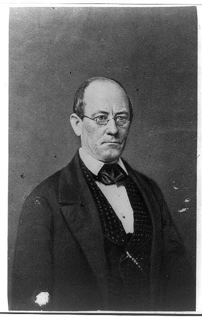 [John Letcher, govenor of Virginia, half-length portrait, facing front]