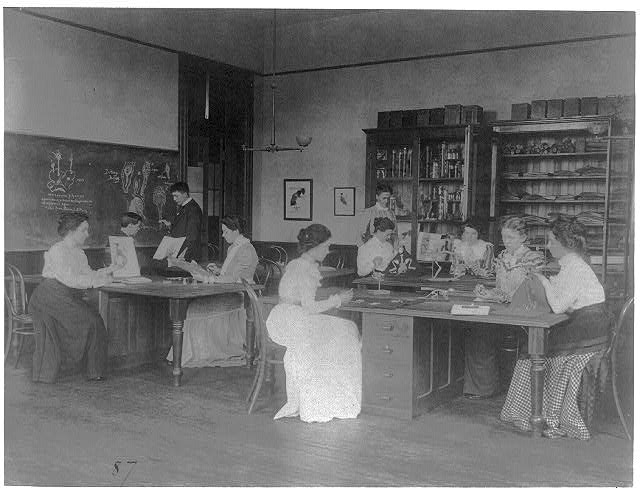 [Classroom scenes in Washington, D.C. public schools - zoology class at Eastern High School]