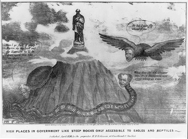 High places in government like steep rocks only accessible to eagles and reptiles