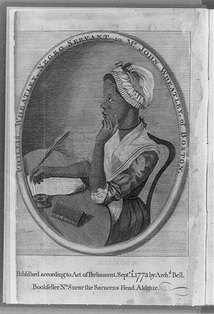 Phillis Wheatley, Negro servant to Mr. John Wheatley, of Boston