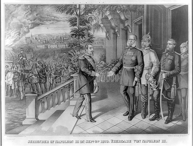 Surrender of Napoleon III on Sepr. 2d. 1870 Übergabe von Napoleon III.