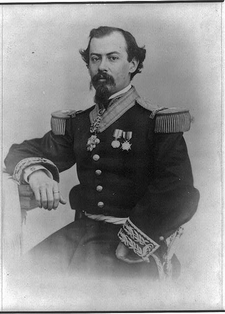 [Miguel Miramón, half-length portrait, seated, facing front]