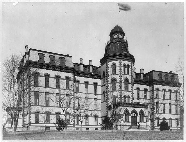 Howard Univ., Washington, D.C., ca. 1900 - main building, exterior