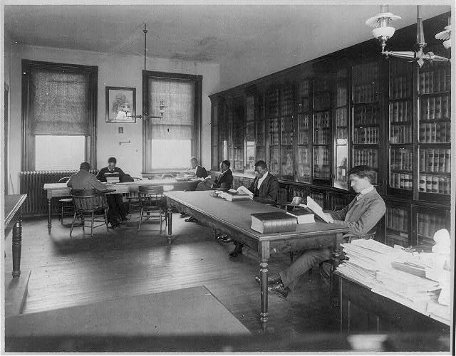 Howard Univ., Washington, D.C., ca. 1900 - Law library